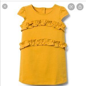 Janie and Jack yellow ponte dress size 18-24 mo